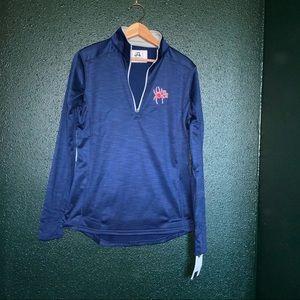 J. America Front Zipper Collar Pull-Over Shirt